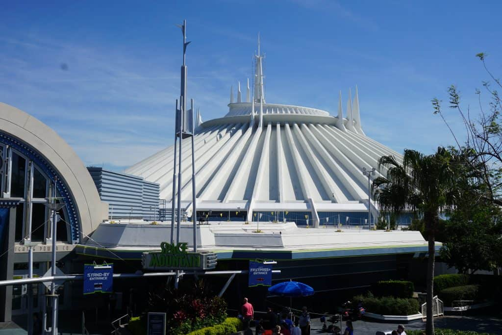 Space Mountain is a thrilling roller coaster in Magic Kingdom that has a ride height requirement of 44 inches.