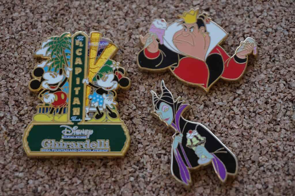 Ghirardelli Studio store Disney pins.