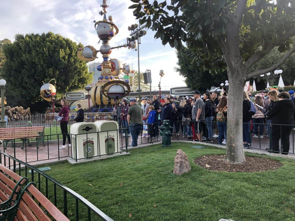 Crowds waiting for rope drop at the Disney parks