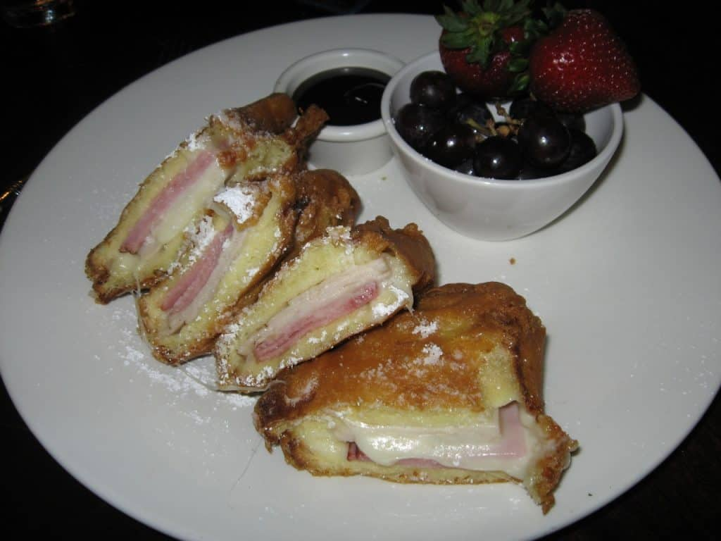 The classic Monte Cristo sandwich at the Blue Bayou in Disneyland.