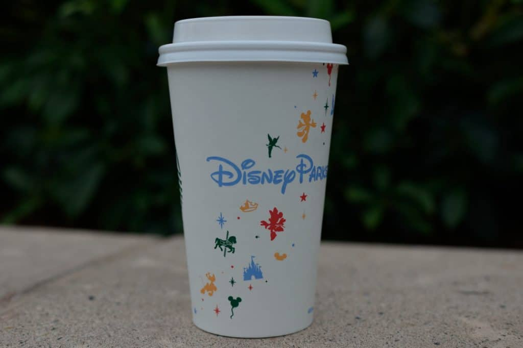 Disney Parks art on a Starbucks coffee cup.