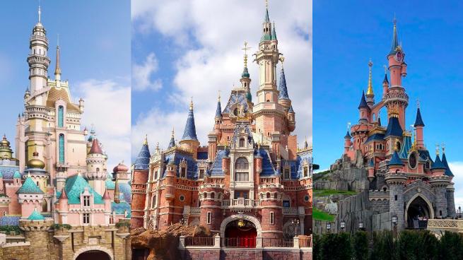 A comparison of the international Disney park castles.