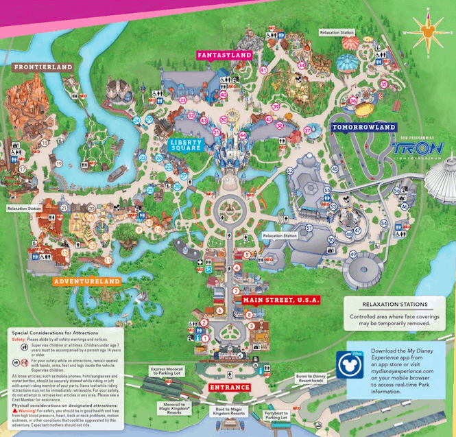 Map of the Magic Kingdom to demonstrate size.